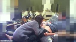 【モ】美人JD学生コスで大量顔射カップル