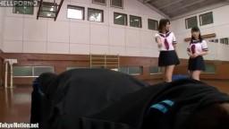 Two schoolgirls and single man