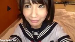 【制服彼女 No.03】黒髪ミニマム系パイパン美少女のみぃちゃん