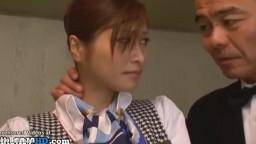 日本人メイドでストッキングファック二クライアントでホテル